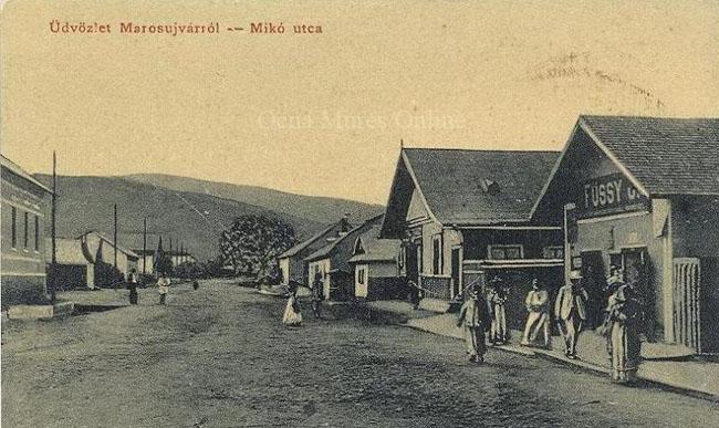 Centrul oraşului Ocna Mureş în 1913.