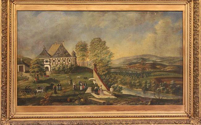 """""""Castelul de la Uioara"""" (Joseph Neuhauser, 1791)"""